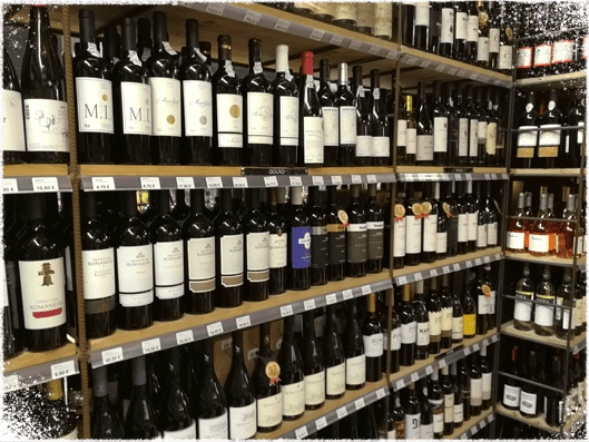 Wine shop in Molise