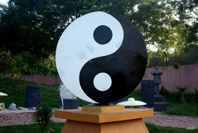 The Yin Yang Sculpture (Phase - 2) - Japanese Garden  Chandigarh
