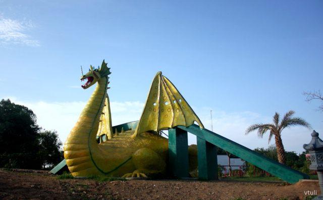 The Dragon Slide - Japanese Garden Chandigarh