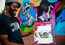 Нигерийский художник разрисовывает стены городских зданий по всей Америке.