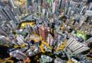 Фотограф запечатлел городские пейзажи Гонконга с помощью дрона.