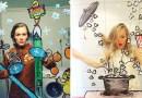 Хелен Мелдаль и ее комичные селфи-зарисовки.
