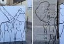 Видео: Необычная скульптура из проволоки, которая имеет два значения.