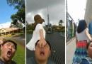Пара с Тайваня опубликовали в фейсбуке несколько фотографий, в которых обыграли идею фотопроекта #FollowMeTo.