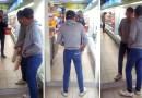 Видео: Пьяный мужик не может разобраться со своим отражением в зеркале.