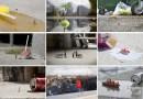 Уличный художник совмещает миниатюрные фигурки людей с объектами повседневной жизни.