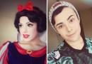 Этот парень превращает себя с помощью макияжа в диснеевских принцесс.