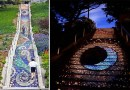Потрясающей красоты лестница, состоящая из тысяч мелких плиток, в Сан-Франциско.