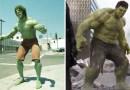Как выглядели известные киношные супергерои  в прошлом и какие они сейчас.