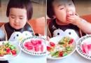 Видео: Эта маленькая девочка получает огромное удовольствие от процесса принятия пищи.