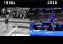 Видео: Как менялась сложность выступлений профессиональных гимнасток с 1950-х годов.