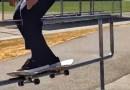 Видео: Американец сделал необычный трюк, прокрутив свой скейт на 360 градусов вокруг трубы.