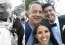 Голливудский актер Том Хэнкс прервал свою пробежку, чтобы поучаствовать в свадебной фотосессии.