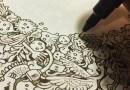 Видео: Филиппинский художник создает невероятные иллюстрации, рисуя их черными ручками.