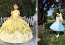 Отец шьет потрясающие платья для своих детей, вдохновившись мультфильмами компании Дисней.