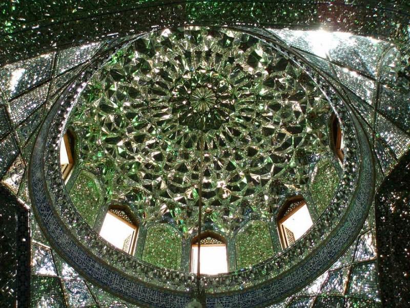 emerald-tomb-ceiling-shah-cheragh-shiraz-iran-vinegret-4