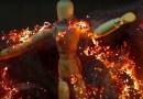 Потрясающий процесс горения пучка шерсти из стали запечатлели при помощи камеры с хорошим макрообъективом. [Видео]