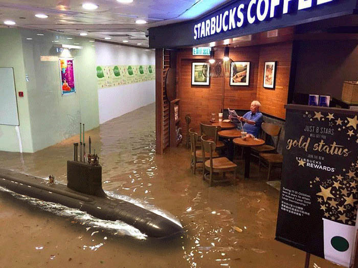 funny-starbucks-uncle-hong-kong-floods-photoshop-battle-vinegret-2