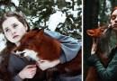 Сказочные портреты рыжеволосых девушек-моделей с лисицей  фотографа Александры Бочкаревой.