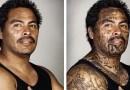 Фотограф удалил с помощью компьютерной ретуши татуировки у бывших гангстеров.