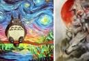 20 потрясающих картин, созданных почитателями анимационных работ Studio Ghibli со всего мира.