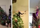 15 фотографий невероятно креативно оформленных новогодних елок.