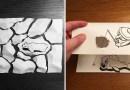 Датский художник создает остроумные 3D-иллюстрации, используя самый обычный листик бумаги.