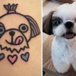Южнокорейский татуировщик рисует милых животных на теле их владельцев.