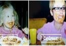 Фотографии пользователей Сети, на которых они воссоздают свои детские снимки.