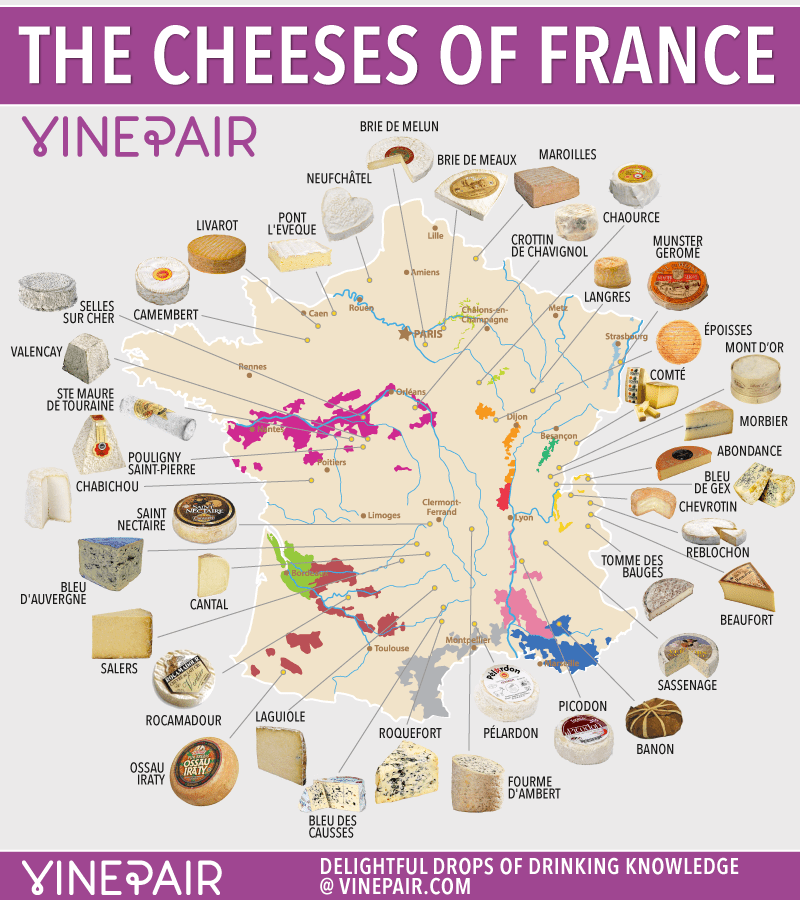 Map: The Cheeses Of France