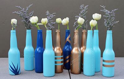 beer-bottle-vases