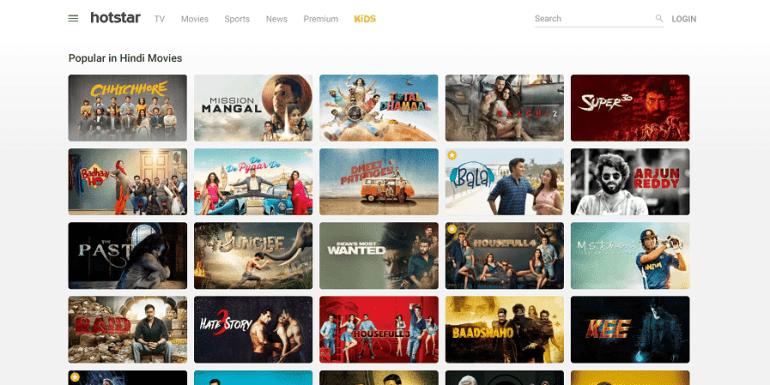 Bollywood Movies on Hotstar