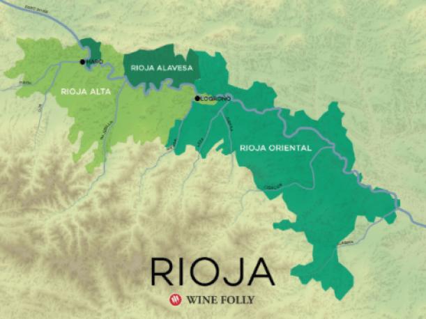 Carte Viticole de la Rioja. Source www.winefolly.com