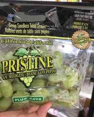 Nho xanh Pristine Mỹ – Vinfruits.com