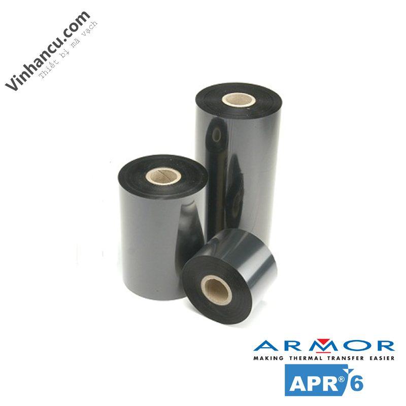 Ribbon mực in mã vạch wax resin Armor APR 6