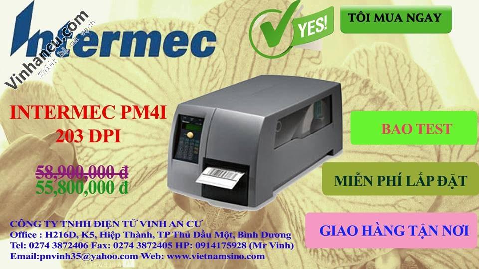 máy in tem PM4i 203 DPI giá rẻ