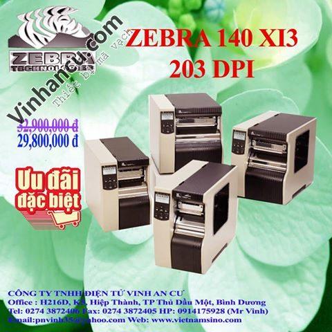 giới thiệu máy in mã vạch zebra – 140xi4