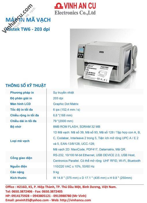 Giá bán Postek TW6 203 DPI rẻ nhất Việt Nam