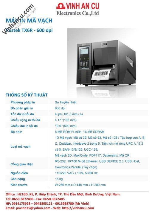 postek tx6r 600 dpi rfid printer giá rẻ - may in postex tx6r 600