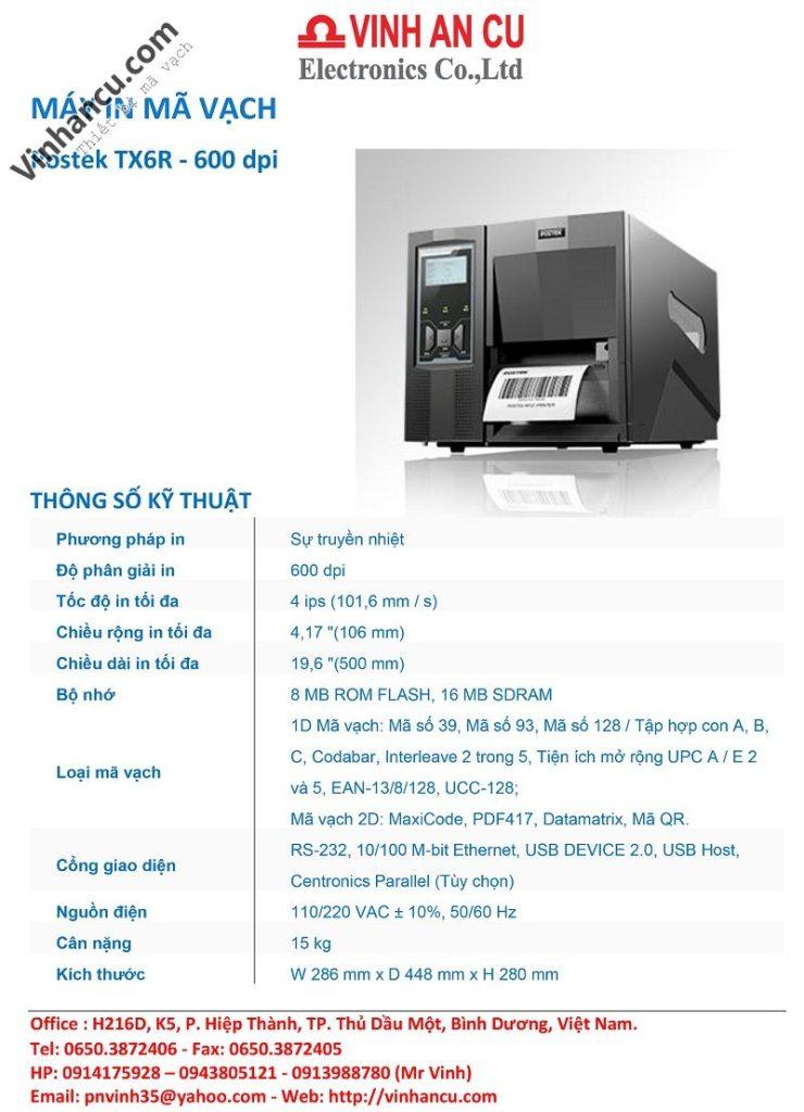 Postek TX6R 600 DPI RFID Printer Giá Rẻ