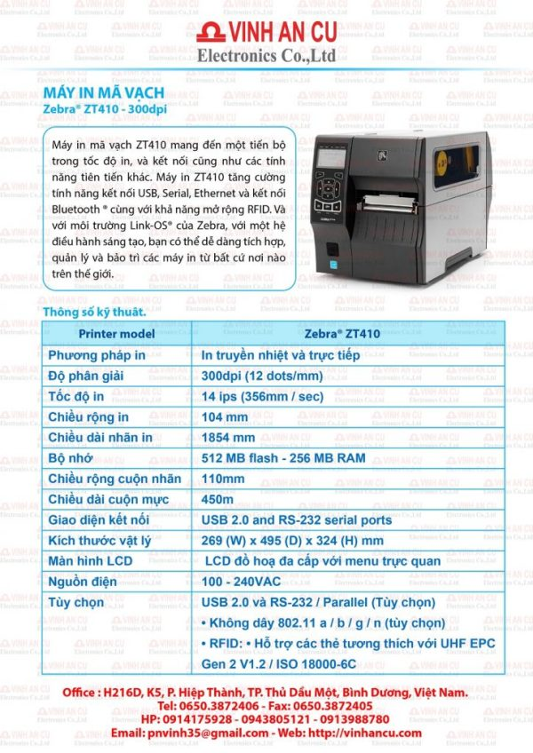 Giá Sỉ ZT410 300 DPI rẻ nhất hiện nay 26tr/ cái