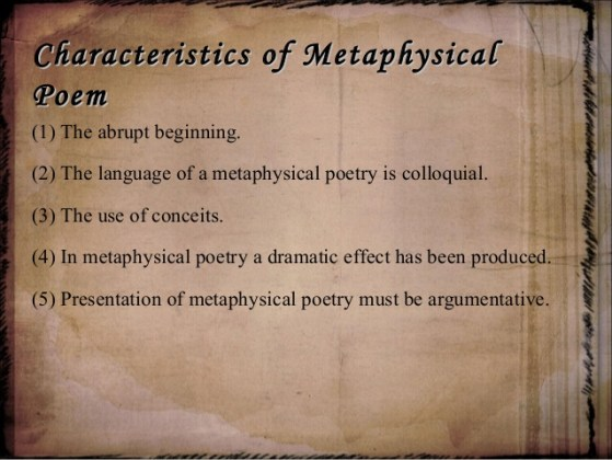 An Introduction to Metaphysical Poetry     Reviews Rants and Rambles metaphysical poem 4 638