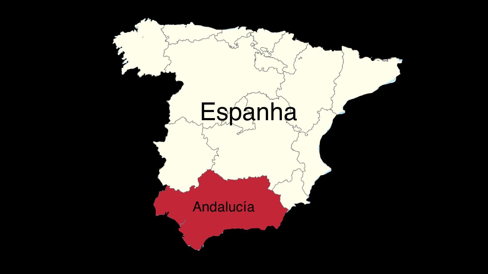 mapa Andaluzia