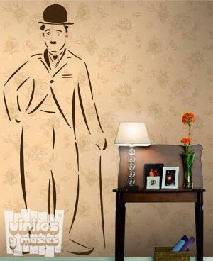 "Vinilo decorativo Charles Chaplin ""Charlotte"""