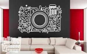Vinilo decorativo cámara fotográfica abstracta