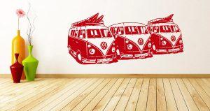 Vinilo decorativo 3 furgos Volkswagen