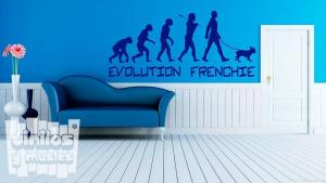 "Vinilo decorativo evolution frenchie ""bulldog francés"""