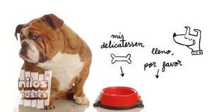 Vinilo decorativo delicatessen plato comida mascotas
