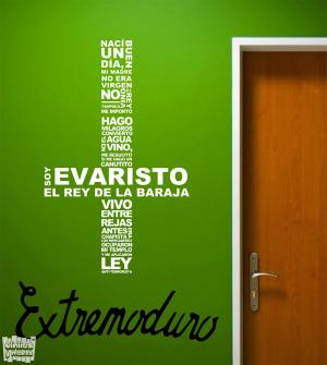 """Vinilo decorativo Extremoduro """"Evaristo"""""""