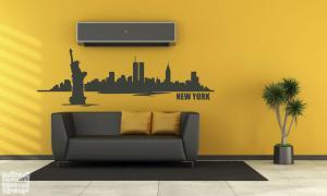 Vinilo decorativo skyline New York.